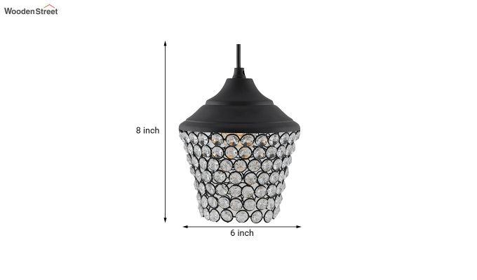 Crystal Matt Black Hanging Light-4