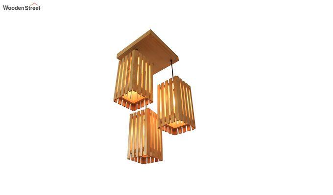 Elegant Beige Wooden Cluster Hanging Lamp-6