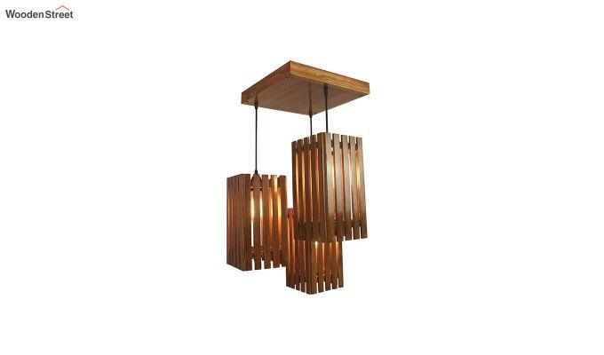 Elegant Brown Wooden Cluster Hanging Lamp-2