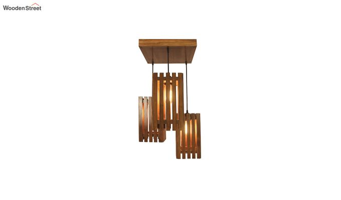 Elegant Brown Wooden Cluster Hanging Lamp-3