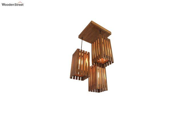 Elegant Brown Wooden Cluster Hanging Lamp-4