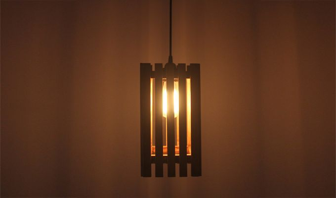 Elegant Brown Wooden Hanging Lamp-1