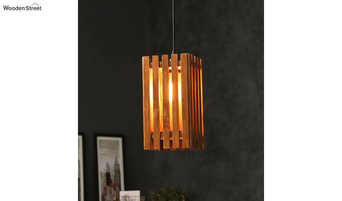 Elegant Brown Wooden Hanging Lamp-2