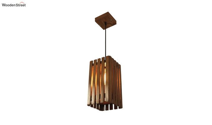Elegant Brown Wooden Hanging Lamp-3