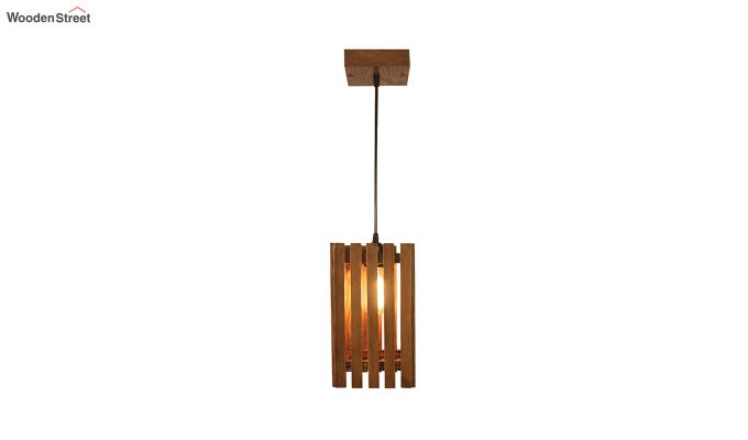Elegant Brown Wooden Hanging Lamp-5