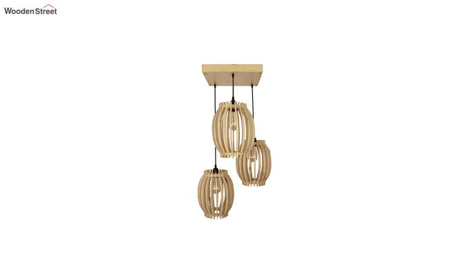Flora Beige Wooden Cluster Hanging Lamp-5