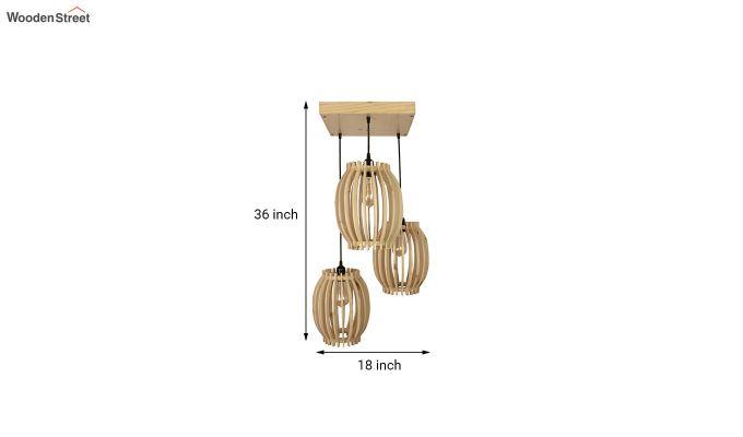 Flora Beige Wooden Cluster Hanging Lamp-6