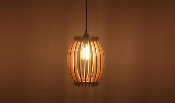 Flora Beige Wooden Hanging Lamp-1