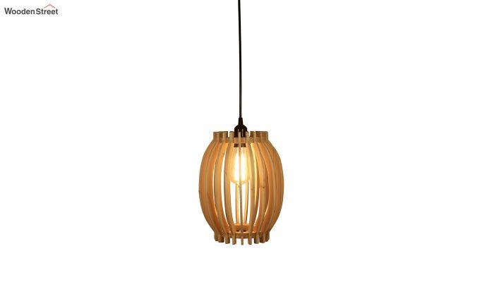 Flora Beige Wooden Hanging Lamp-3