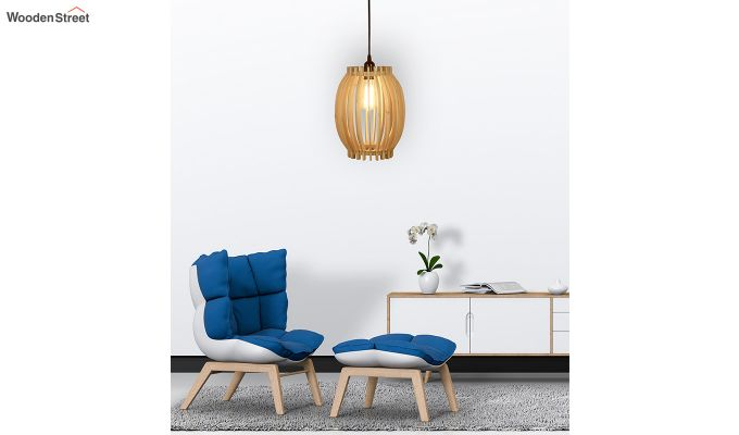 Flora Beige Wooden Hanging Lamp-4