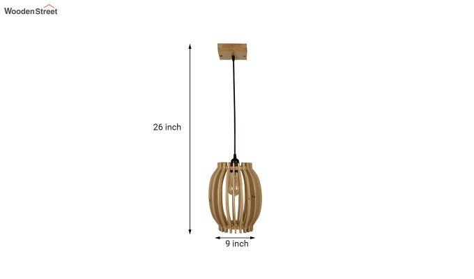 Flora Beige Wooden Hanging Lamp-5