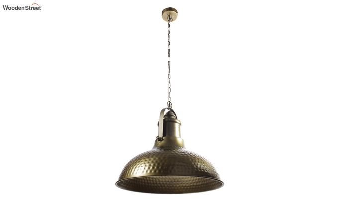 Gold Bell Hanging Light by Grated Ginger-2