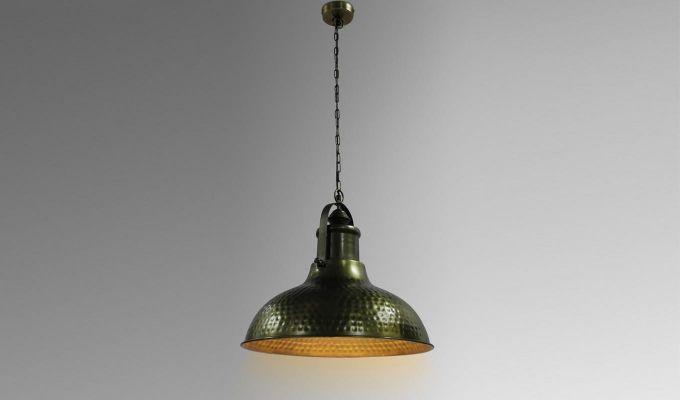 Gold Bell Hanging Light by Grated Ginger-1