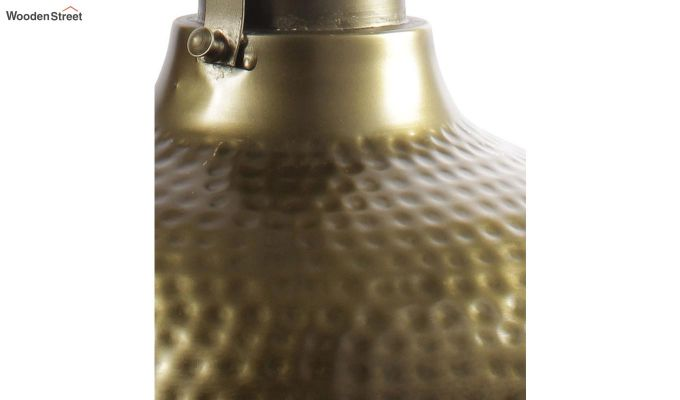 Gold Bell Hanging Light by Grated Ginger-4