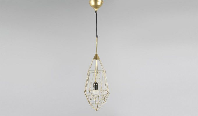 Gold Birdcage Hanging Light by Grated Ginger-1