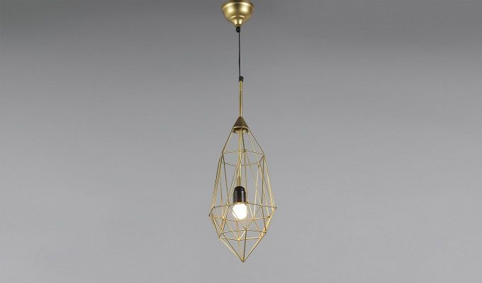 Gold Birdcage Hanging Light by Grated Ginger-2