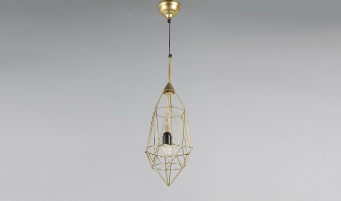 Gold Birdcage Hanging Light by Grated Ginger-3