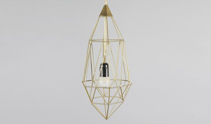 Gold Birdcage Hanging Light by Grated Ginger-4
