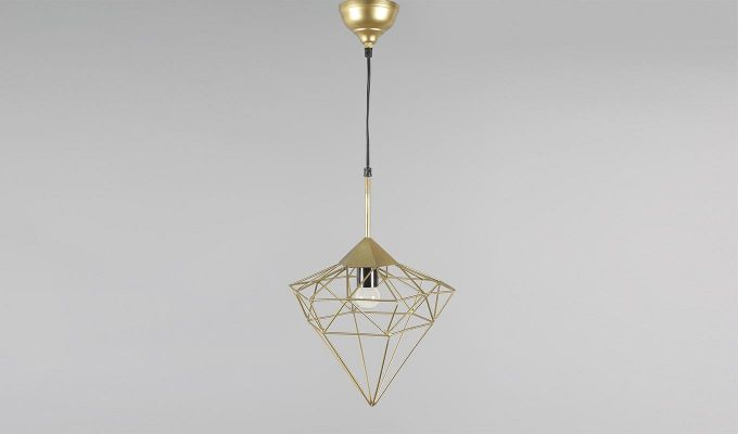 Gold Jewel Hanging Light by Grated Ginger-1