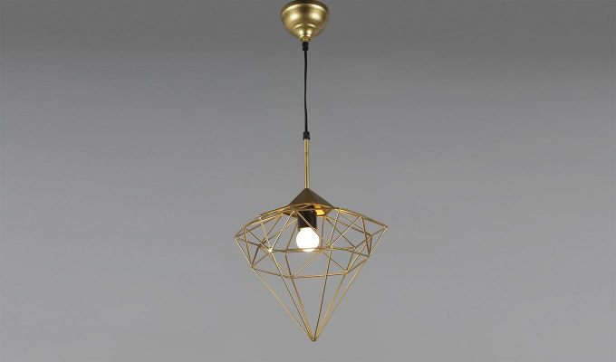 Gold Jewel Hanging Light by Grated Ginger-2