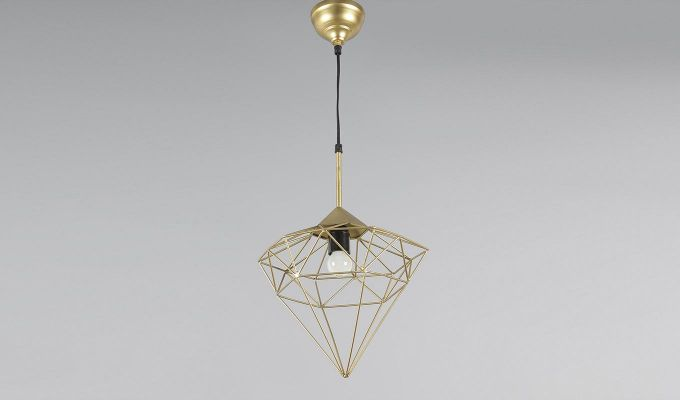 Gold Jewel Hanging Light by Grated Ginger-3