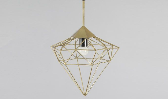 Gold Jewel Hanging Light by Grated Ginger-4