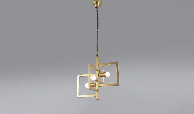 Gold Vane Hanging Light by Grated Ginger-2