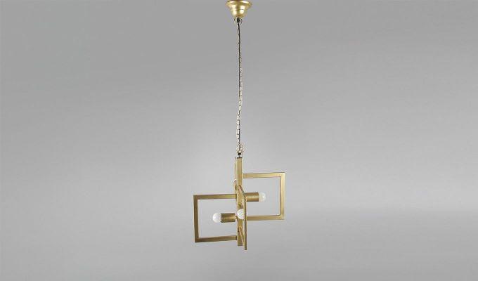 Gold Vane Hanging Light by Grated Ginger-3