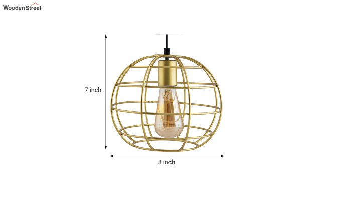 Golden Classic Sphere Filament Hanging Light-4