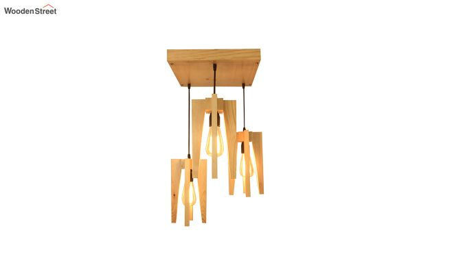 Jet Beige Wooden Cluster Hanging Lamp-4