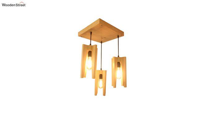 Jet Beige Wooden Cluster Hanging Lamp-6