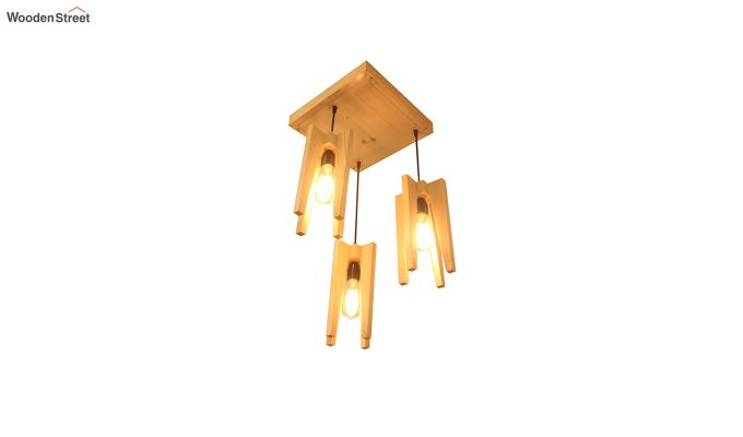 Jet Beige Wooden Cluster Hanging Lamp-5