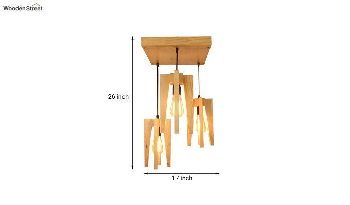 Jet Beige Wooden Cluster Hanging Lamp-7