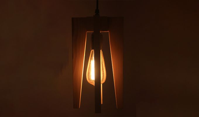 Jet Beige Wooden Hanging Lamp-2