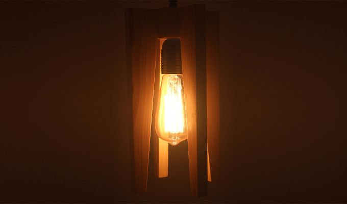 Jet Beige Wooden Hanging Lamp-3