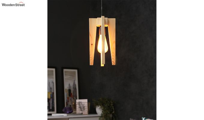 Jet Beige Wooden Hanging Lamp-1