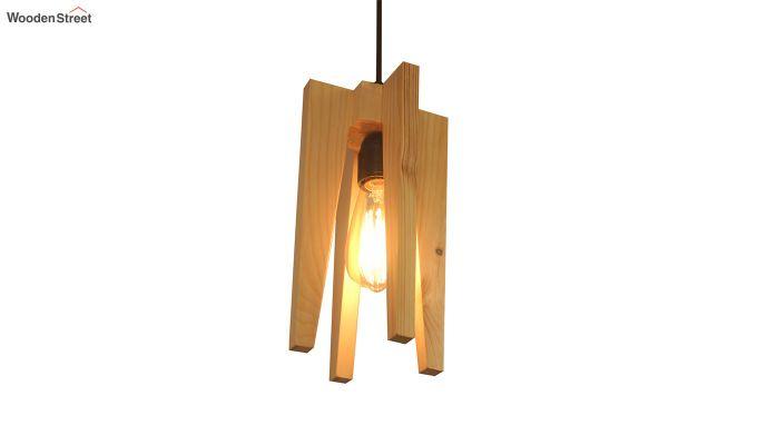 Jet Beige Wooden Hanging Lamp-4