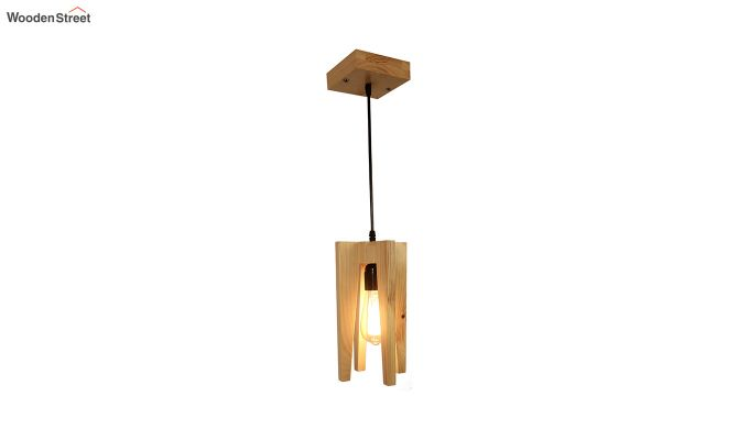 Jet Beige Wooden Hanging Lamp-5