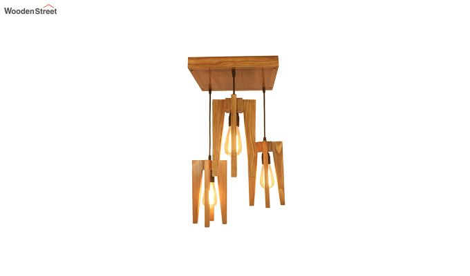 Jet Brown Wooden Cluster Hanging Lamp-4