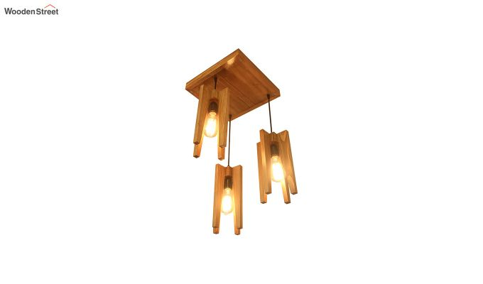 Jet Brown Wooden Cluster Hanging Lamp-5