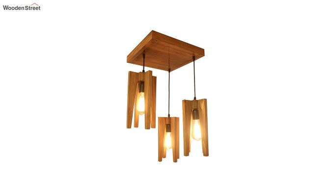Jet Brown Wooden Cluster Hanging Lamp-6
