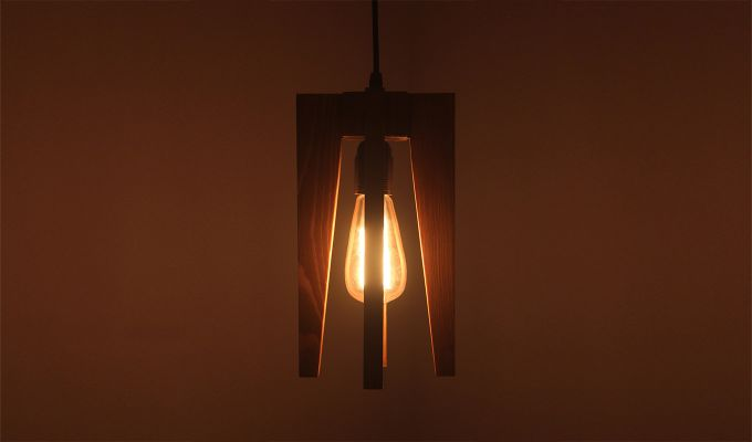 Jet Brown Wooden Hanging Lamp-3