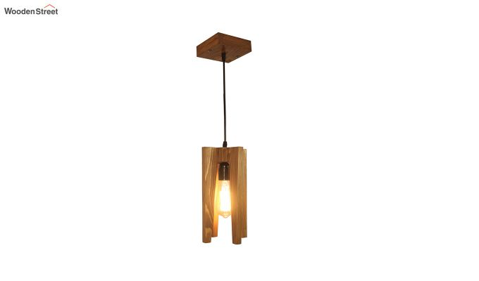 Jet Brown Wooden Hanging Lamp-4