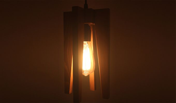 Jet Brown Wooden Hanging Lamp-2