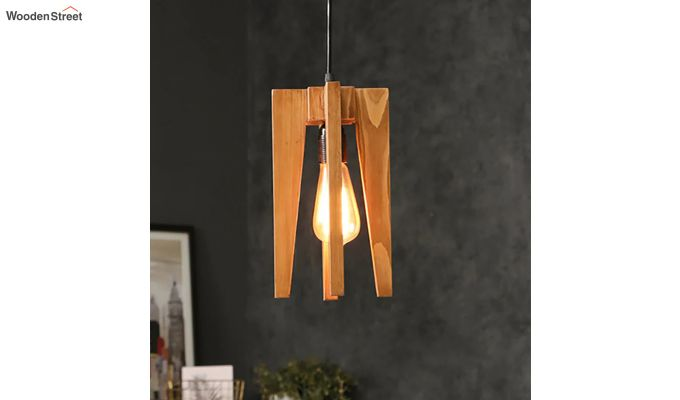 Jet Brown Wooden Hanging Lamp-1