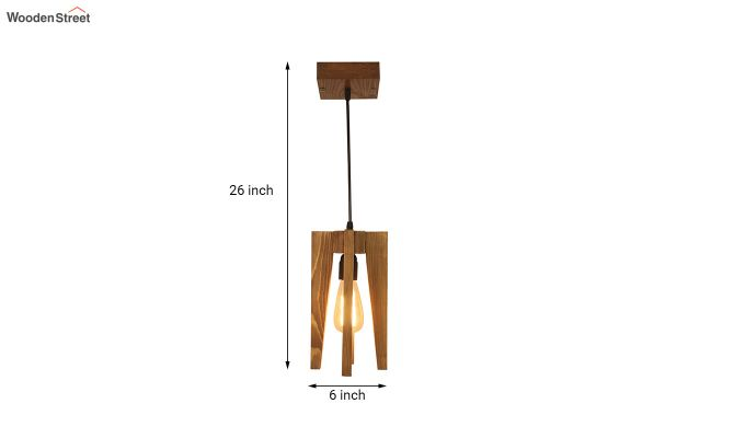 Jet Brown Wooden Hanging Lamp-7
