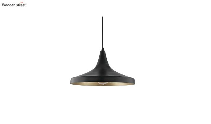 Nordic Modern Black Danish Shape Hanging Light-3