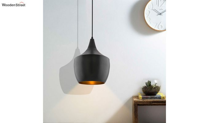 Nordic Modern Black Metal Hanging Light-1