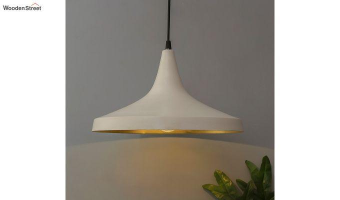 Nordic Modern White Danish Shape Hanging Light-1
