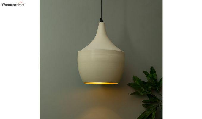 Nordic Modern White Metal Hanging Light-1